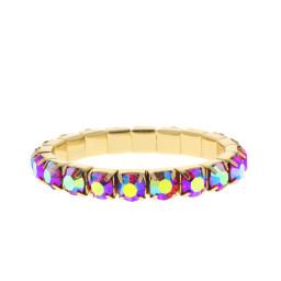 Siam Shimmer Gold plated bracelet krystal london swarovski single band bracelet.jpg