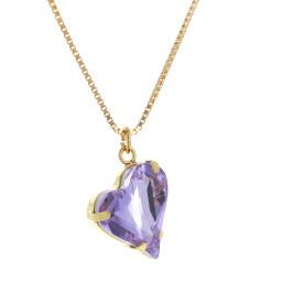 Big heart necklace purple 17mm-25mm Krystal London Gold Plated Swarovski1.jpg