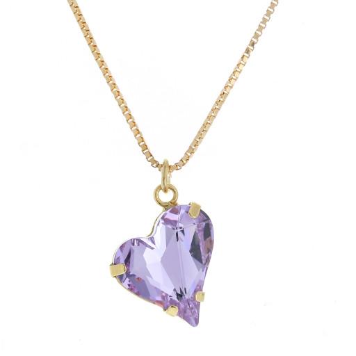 Big heart necklace purple 17mm-25mm Krystal London Gold Plated Swarovski 1.jpg