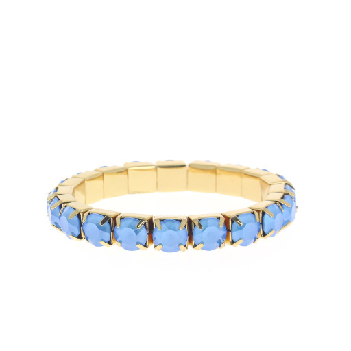 Summer Blue Gold plated bracelet krystal london swarovski single band bracelet.jpg