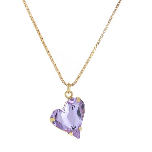Big heart necklace purple 17mm-25mm Krystal London Gold Plated Swarovski.jpg