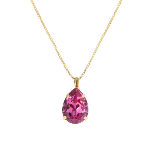 Rose Necklace-Crystal Swarvoski pendant.jpg