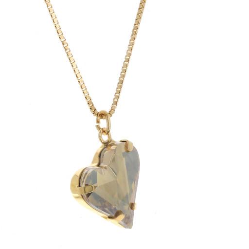 Big heart necklace purple 17mm-25mm Krystal London Gold Plated Swarovski side on.jpg
