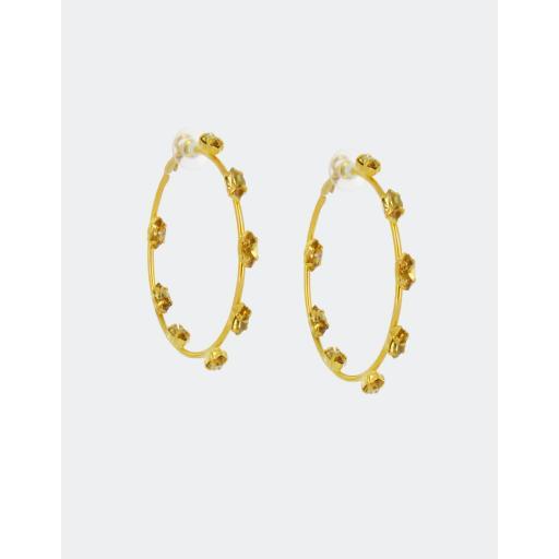 Amelia Hoops Earrings