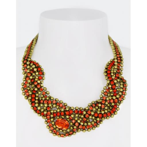 Vintage Maria Necklace - Coral Hyacinth Mix