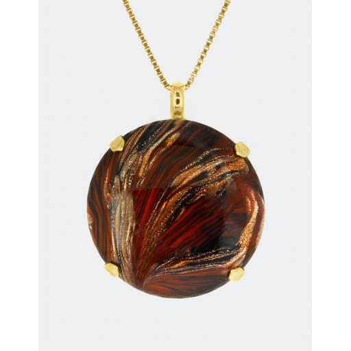 Long Vintage Mars Necklace