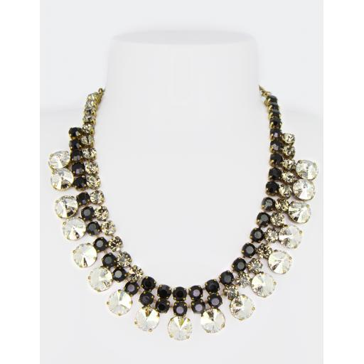 Vintage Gabriella Necklace - Jet Black Diamond Mix