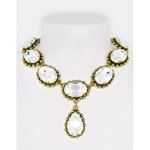 Vintage Caroline Necklace - Crystal