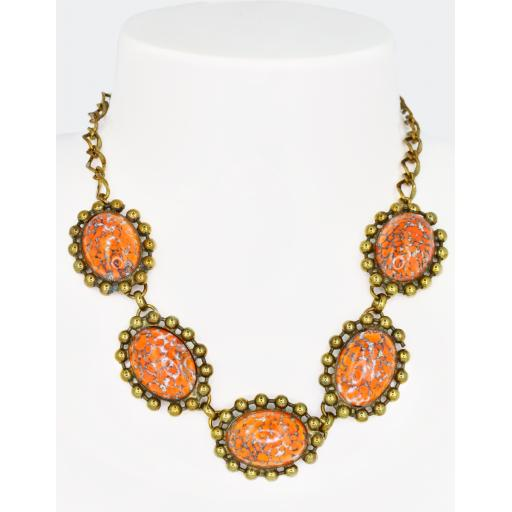 Vintage Patsy Beaded Necklace - Coral Matrix