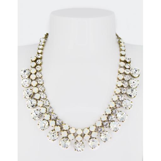 Vintage Gabriella Necklace - Crystal White Opal Mix