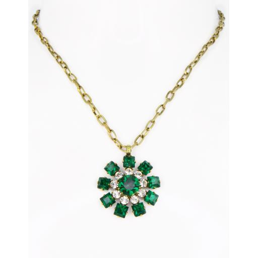 Vintage Chakra Necklace - Emerald