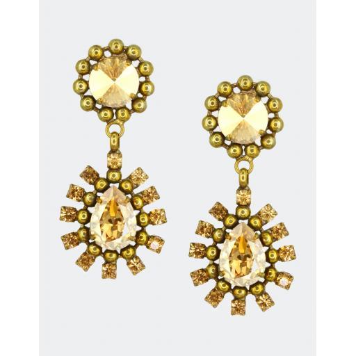 Vintage Nasreen Earring - Topaz