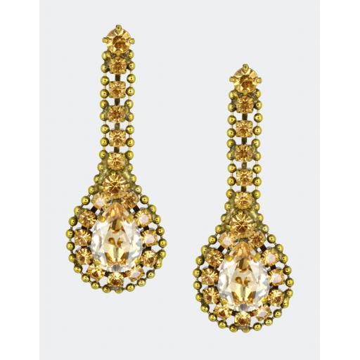 Pear Drop Earring - Golden Shadow