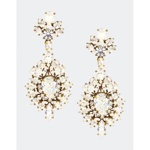 Vintage Victoria Earring - Crystal