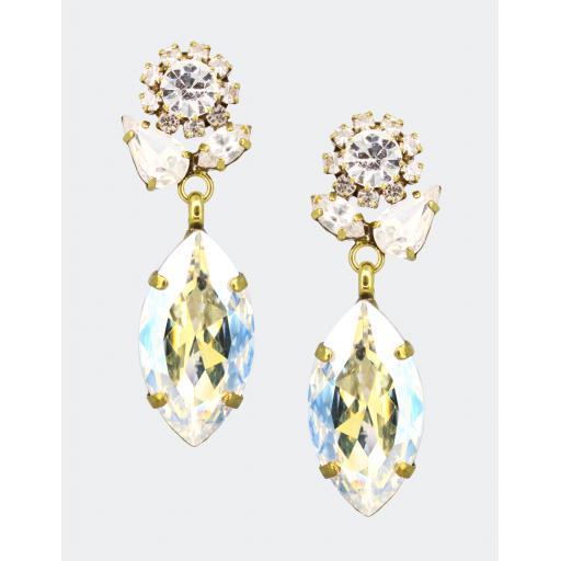 Vintage Marquise Drop Earring - Moon Light