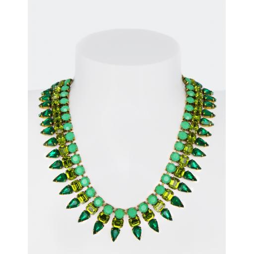 Vintage Alex Spikey Necklace - Emerald
