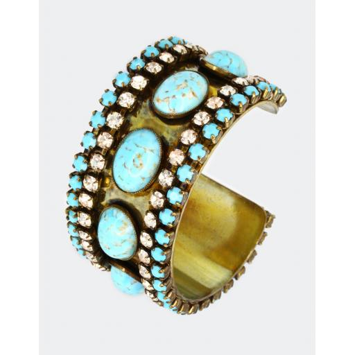 Vintage Nathalie Cuff - Turquoise