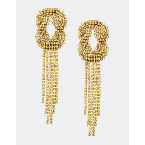 Vintage Linda Knot Earring - Topaz