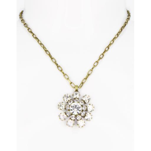 Vintage Chakra Necklace - Crystal