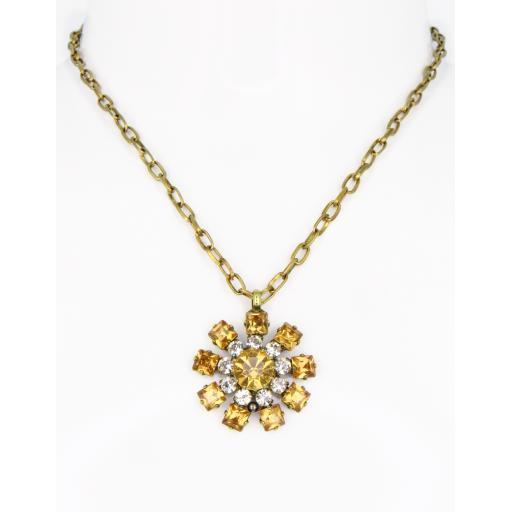 Vintage Chakra necklace - Topaz