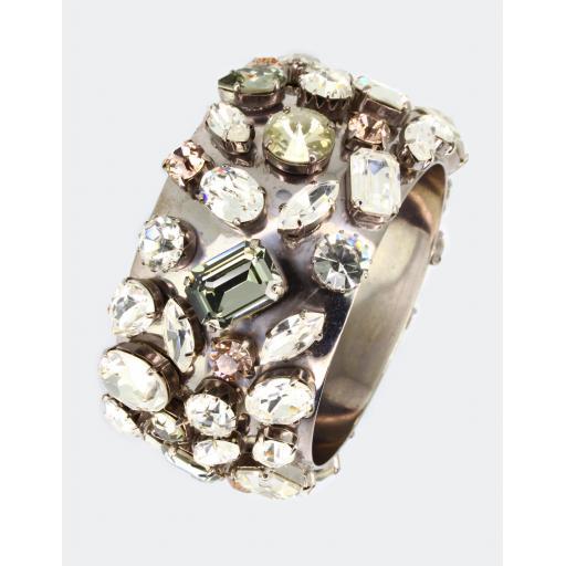 Vintage Malissa Cluster Cuff - Crystal Mix