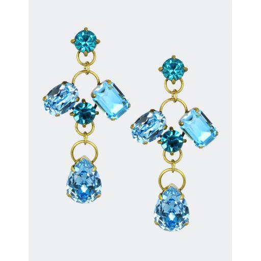 Vintage Piya Earrings - Blue Mix