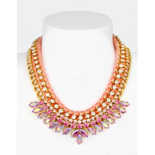 Vintage Vimmy Necklace - Rose AB Pink Mix